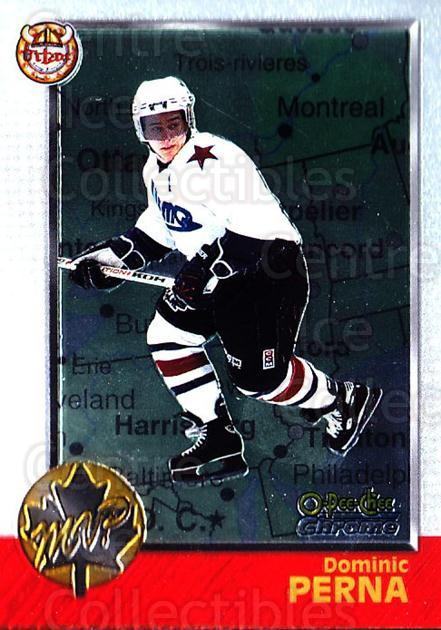 1998 Bowman CHL Chrome OPC International #163 Dominic Perna<br/>1 In Stock - $3.00 each - <a href=https://centericecollectibles.foxycart.com/cart?name=1998%20Bowman%20CHL%20Chrome%20OPC%20International%20%23163%20Dominic%20Perna...&quantity_max=1&price=$3.00&code=362414 class=foxycart> Buy it now! </a>