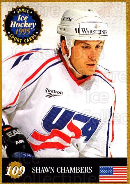 1995 Finnish Semic World Championships #109 Shawn Chambers<br/>10 In Stock - $2.00 each - <a href=https://centericecollectibles.foxycart.com/cart?name=1995%20Finnish%20Semic%20World%20Championships%20%23109%20Shawn%20Chambers...&quantity_max=10&price=$2.00&code=36262 class=foxycart> Buy it now! </a>