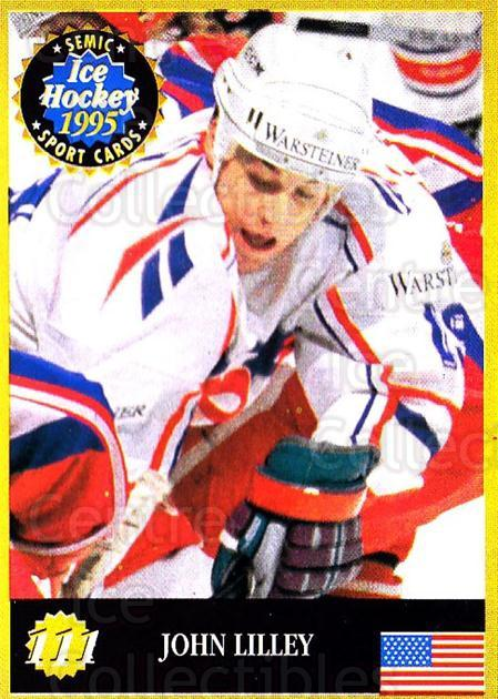 1995 Finnish Semic World Championships #111 John Lilley<br/>9 In Stock - $2.00 each - <a href=https://centericecollectibles.foxycart.com/cart?name=1995%20Finnish%20Semic%20World%20Championships%20%23111%20John%20Lilley...&quantity_max=9&price=$2.00&code=36264 class=foxycart> Buy it now! </a>