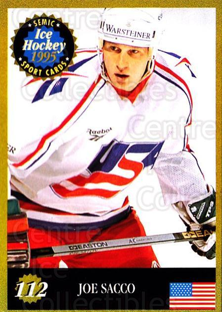 1995 Finnish Semic World Championships #112 Joe Sacco<br/>6 In Stock - $2.00 each - <a href=https://centericecollectibles.foxycart.com/cart?name=1995%20Finnish%20Semic%20World%20Championships%20%23112%20Joe%20Sacco...&quantity_max=6&price=$2.00&code=36265 class=foxycart> Buy it now! </a>