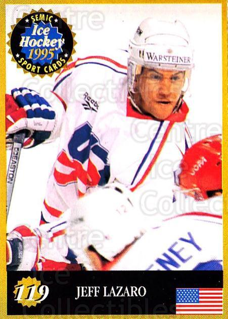 1995 Finnish Semic World Championships #119 Jeff Lazaro<br/>9 In Stock - $2.00 each - <a href=https://centericecollectibles.foxycart.com/cart?name=1995%20Finnish%20Semic%20World%20Championships%20%23119%20Jeff%20Lazaro...&quantity_max=9&price=$2.00&code=36268 class=foxycart> Buy it now! </a>