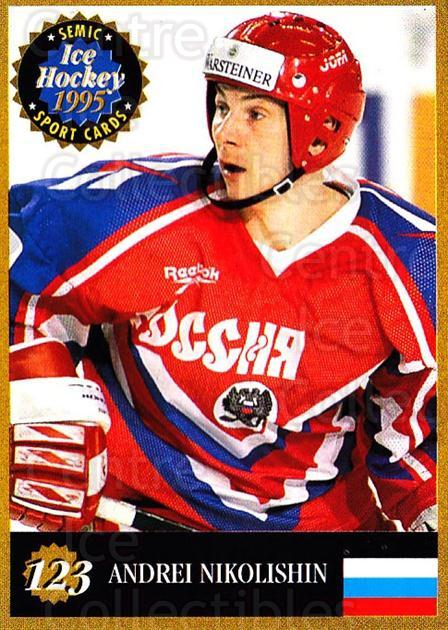 1995 Finnish Semic World Championships #123 Andrei Nikolishin<br/>3 In Stock - $2.00 each - <a href=https://centericecollectibles.foxycart.com/cart?name=1995%20Finnish%20Semic%20World%20Championships%20%23123%20Andrei%20Nikolish...&quantity_max=3&price=$2.00&code=36273 class=foxycart> Buy it now! </a>