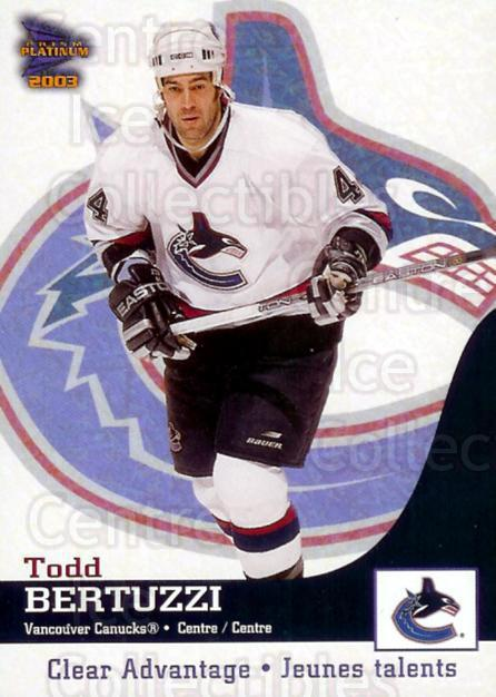 2002-03 McDonalds Pacific Clear Advantage #6 Todd Bertuzzi<br/>1 In Stock - $3.00 each - <a href=https://centericecollectibles.foxycart.com/cart?name=2002-03%20McDonalds%20Pacific%20Clear%20Advantage%20%236%20Todd%20Bertuzzi...&quantity_max=1&price=$3.00&code=362799 class=foxycart> Buy it now! </a>
