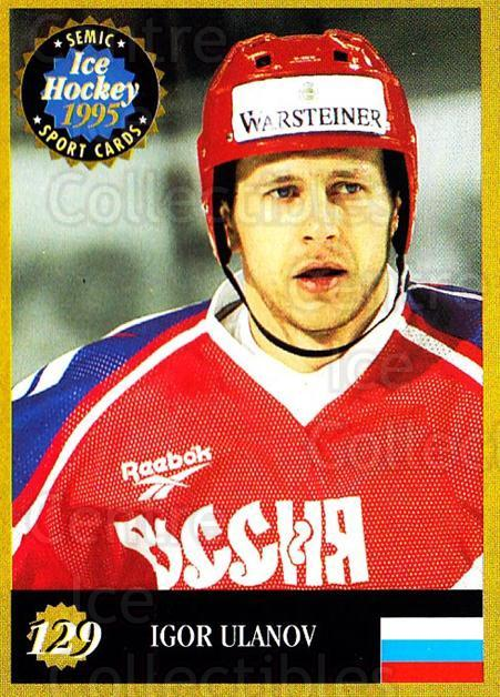 1995 Finnish Semic World Championships #129 Igor Ulanov<br/>2 In Stock - $2.00 each - <a href=https://centericecollectibles.foxycart.com/cart?name=1995%20Finnish%20Semic%20World%20Championships%20%23129%20Igor%20Ulanov...&quantity_max=2&price=$2.00&code=36279 class=foxycart> Buy it now! </a>