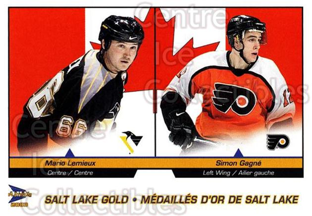 2002-03 McDonalds Pacific Salt Lake #10 Mario Lemieux, Simon Gagne<br/>9 In Stock - $2.00 each - <a href=https://centericecollectibles.foxycart.com/cart?name=2002-03%20McDonalds%20Pacific%20Salt%20Lake%20%2310%20Mario%20Lemieux,%20...&quantity_max=9&price=$2.00&code=362801 class=foxycart> Buy it now! </a>