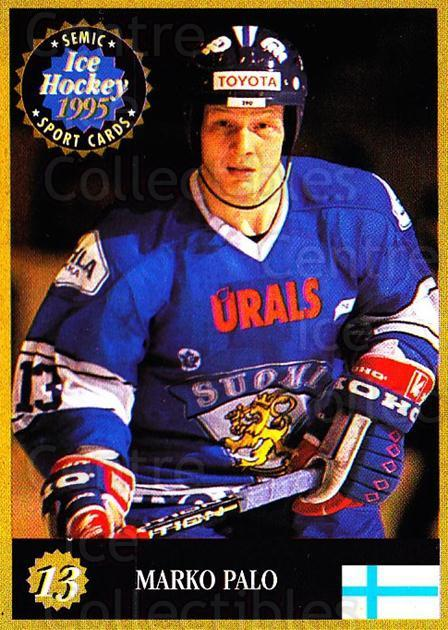 1995 Finnish Semic World Championships #13 Marko Palo<br/>5 In Stock - $2.00 each - <a href=https://centericecollectibles.foxycart.com/cart?name=1995%20Finnish%20Semic%20World%20Championships%20%2313%20Marko%20Palo...&quantity_max=5&price=$2.00&code=36280 class=foxycart> Buy it now! </a>