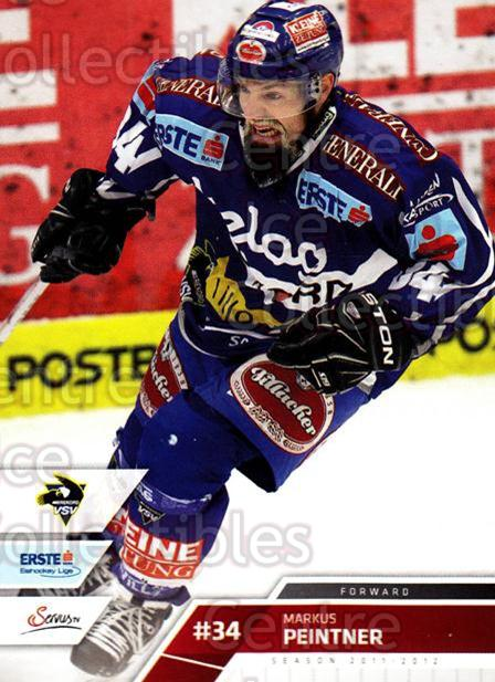 2011-12 Erste Bank Eishockey Liga EBEL #228 Markus Peintner<br/>4 In Stock - $2.00 each - <a href=https://centericecollectibles.foxycart.com/cart?name=2011-12%20Erste%20Bank%20Eishockey%20Liga%20EBEL%20%23228%20Markus%20Peintner...&quantity_max=4&price=$2.00&code=362833 class=foxycart> Buy it now! </a>