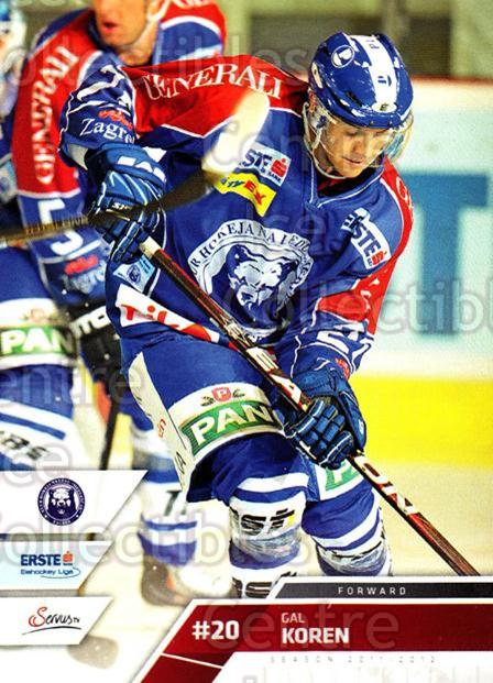 2011-12 Erste Bank Eishockey Liga EBEL #243 Gal Koren<br/>2 In Stock - $2.00 each - <a href=https://centericecollectibles.foxycart.com/cart?name=2011-12%20Erste%20Bank%20Eishockey%20Liga%20EBEL%20%23243%20Gal%20Koren...&quantity_max=2&price=$2.00&code=362848 class=foxycart> Buy it now! </a>