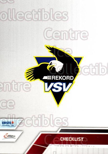 2011-12 Erste Bank Eishockey Liga EBEL #289 EC Rekord-Fenster VSV, Checklist<br/>6 In Stock - $2.00 each - <a href=https://centericecollectibles.foxycart.com/cart?name=2011-12%20Erste%20Bank%20Eishockey%20Liga%20EBEL%20%23289%20EC%20Rekord-Fenst...&quantity_max=6&price=$2.00&code=362894 class=foxycart> Buy it now! </a>