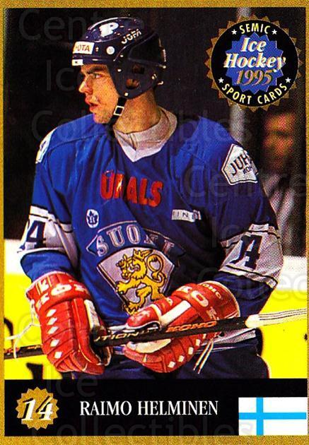 1995 Finnish Semic World Championships #14 Raimo Helminen<br/>1 In Stock - $2.00 each - <a href=https://centericecollectibles.foxycart.com/cart?name=1995%20Finnish%20Semic%20World%20Championships%20%2314%20Raimo%20Helminen...&quantity_max=1&price=$2.00&code=36291 class=foxycart> Buy it now! </a>