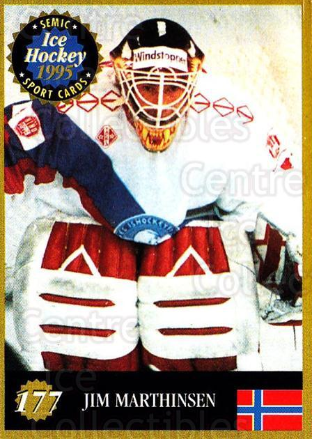 1995 Finnish Semic World Championships #177 Jim Marthinsen<br/>1 In Stock - $2.00 each - <a href=https://centericecollectibles.foxycart.com/cart?name=1995%20Finnish%20Semic%20World%20Championships%20%23177%20Jim%20Marthinsen...&quantity_max=1&price=$2.00&code=36321 class=foxycart> Buy it now! </a>