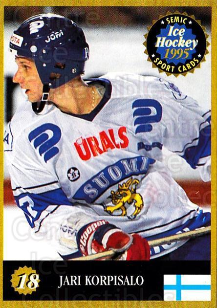 1995 Finnish Semic World Championships #18 Jari Korpisalo<br/>4 In Stock - $2.00 each - <a href=https://centericecollectibles.foxycart.com/cart?name=1995%20Finnish%20Semic%20World%20Championships%20%2318%20Jari%20Korpisalo...&quantity_max=4&price=$2.00&code=36324 class=foxycart> Buy it now! </a>