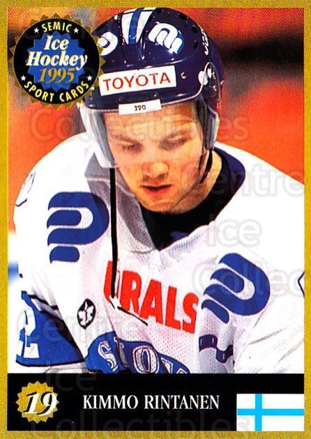 1995 Finnish Semic World Championships #19 Kimmo Rintanen<br/>4 In Stock - $2.00 each - <a href=https://centericecollectibles.foxycart.com/cart?name=1995%20Finnish%20Semic%20World%20Championships%20%2319%20Kimmo%20Rintanen...&quantity_max=4&price=$2.00&code=36335 class=foxycart> Buy it now! </a>