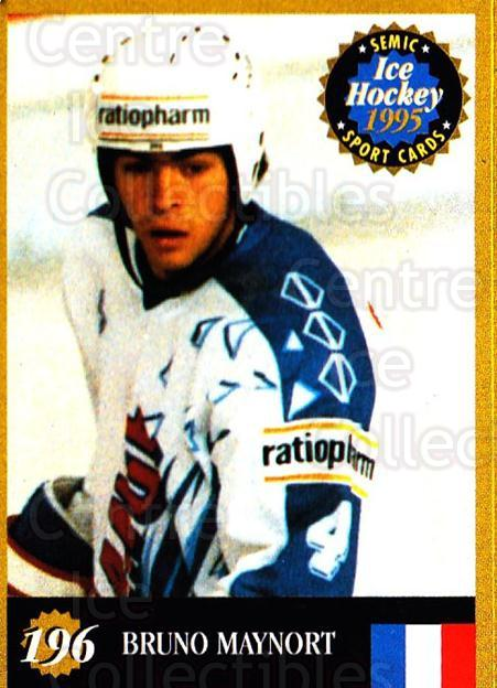 1995 Finnish Semic World Championships #196 Bruno Maynort<br/>5 In Stock - $2.00 each - <a href=https://centericecollectibles.foxycart.com/cart?name=1995%20Finnish%20Semic%20World%20Championships%20%23196%20Bruno%20Maynort...&quantity_max=5&price=$2.00&code=36342 class=foxycart> Buy it now! </a>