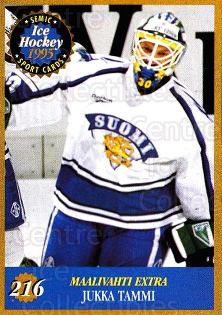 1995 Finnish Semic World Championships #216 Jukka Tammi<br/>4 In Stock - $2.00 each - <a href=https://centericecollectibles.foxycart.com/cart?name=1995%20Finnish%20Semic%20World%20Championships%20%23216%20Jukka%20Tammi...&quantity_max=4&price=$2.00&code=36356 class=foxycart> Buy it now! </a>