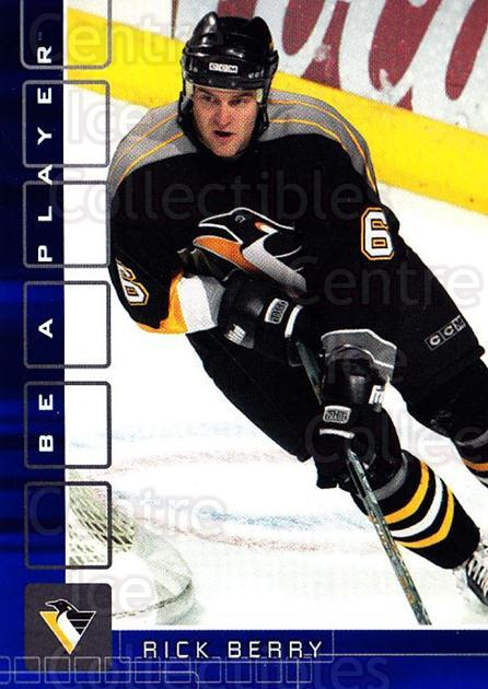 2001-02 BAP Memorabilia Sapphire #485 Rick Berry<br/>1 In Stock - $5.00 each - <a href=https://centericecollectibles.foxycart.com/cart?name=2001-02%20BAP%20Memorabilia%20Sapphire%20%23485%20Rick%20Berry...&quantity_max=1&price=$5.00&code=363767 class=foxycart> Buy it now! </a>