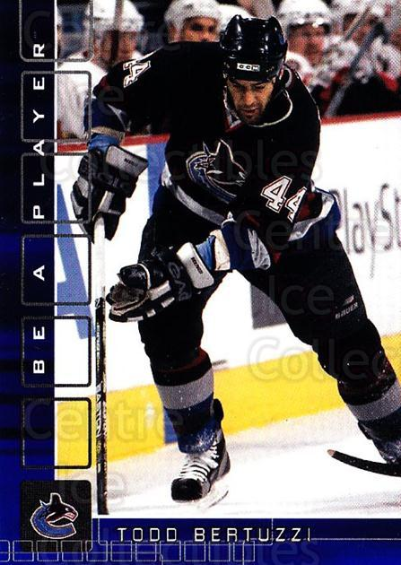 2001-02 BAP Memorabilia Sapphire #100 Todd Bertuzzi<br/>1 In Stock - $5.00 each - <a href=https://centericecollectibles.foxycart.com/cart?name=2001-02%20BAP%20Memorabilia%20Sapphire%20%23100%20Todd%20Bertuzzi...&quantity_max=1&price=$5.00&code=363770 class=foxycart> Buy it now! </a>