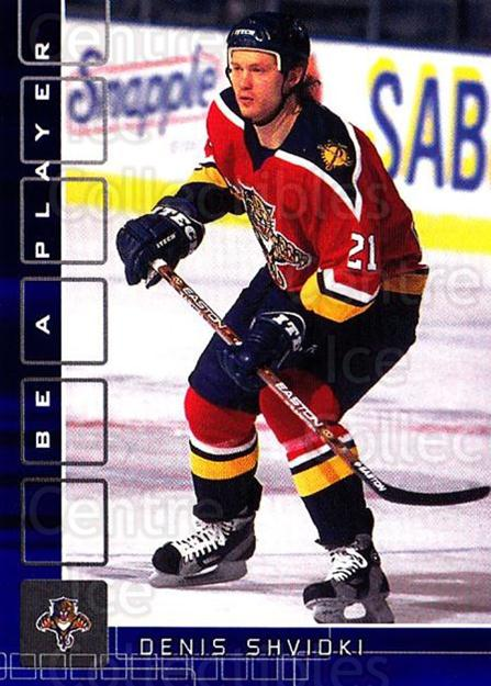 2001-02 BAP Memorabilia Sapphire #109 Denis Shvidki<br/>2 In Stock - $5.00 each - <a href=https://centericecollectibles.foxycart.com/cart?name=2001-02%20BAP%20Memorabilia%20Sapphire%20%23109%20Denis%20Shvidki...&quantity_max=2&price=$5.00&code=363779 class=foxycart> Buy it now! </a>