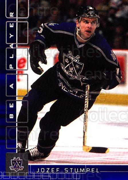 2001-02 BAP Memorabilia Sapphire #110 Jozef Stumpel<br/>1 In Stock - $5.00 each - <a href=https://centericecollectibles.foxycart.com/cart?name=2001-02%20BAP%20Memorabilia%20Sapphire%20%23110%20Jozef%20Stumpel...&quantity_max=1&price=$5.00&code=363781 class=foxycart> Buy it now! </a>