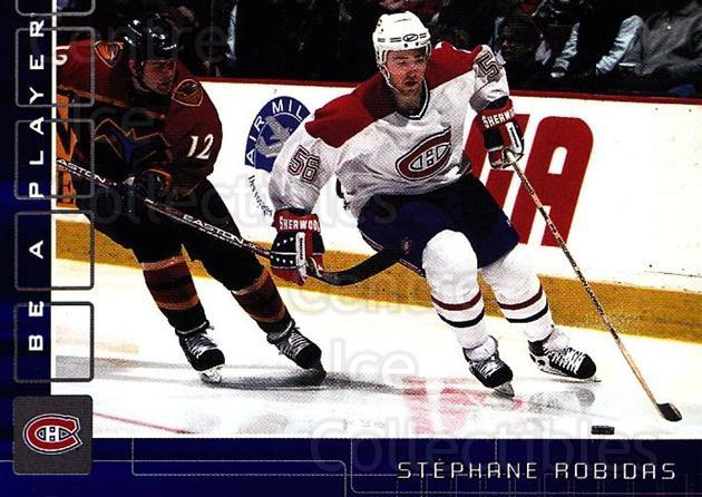 2001-02 BAP Memorabilia Sapphire #112 Stephane Robidas<br/>1 In Stock - $5.00 each - <a href=https://centericecollectibles.foxycart.com/cart?name=2001-02%20BAP%20Memorabilia%20Sapphire%20%23112%20Stephane%20Robida...&quantity_max=1&price=$5.00&code=363783 class=foxycart> Buy it now! </a>