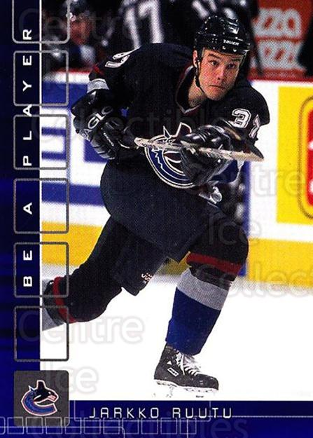 2001-02 BAP Memorabilia Sapphire #123 Jarkko Ruutu<br/>1 In Stock - $5.00 each - <a href=https://centericecollectibles.foxycart.com/cart?name=2001-02%20BAP%20Memorabilia%20Sapphire%20%23123%20Jarkko%20Ruutu...&quantity_max=1&price=$5.00&code=363795 class=foxycart> Buy it now! </a>