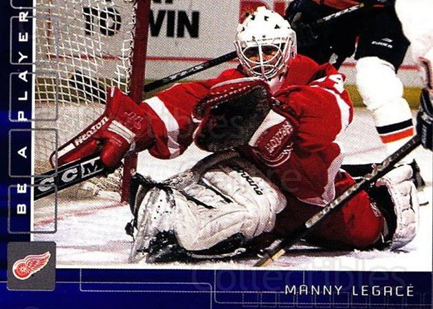 2001-02 BAP Memorabilia Sapphire #132 Manny Legace<br/>2 In Stock - $5.00 each - <a href=https://centericecollectibles.foxycart.com/cart?name=2001-02%20BAP%20Memorabilia%20Sapphire%20%23132%20Manny%20Legace...&quantity_max=2&price=$5.00&code=363805 class=foxycart> Buy it now! </a>