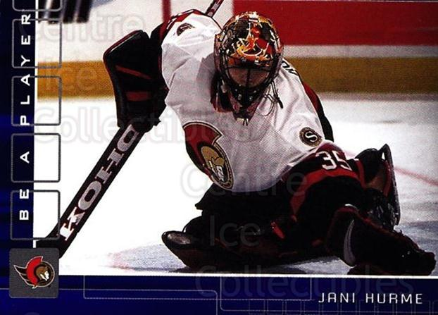 2001-02 BAP Memorabilia Sapphire #144 Jani Hurme<br/>1 In Stock - $5.00 each - <a href=https://centericecollectibles.foxycart.com/cart?name=2001-02%20BAP%20Memorabilia%20Sapphire%20%23144%20Jani%20Hurme...&quantity_max=1&price=$5.00&code=363817 class=foxycart> Buy it now! </a>
