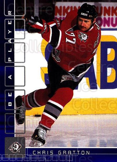2001-02 BAP Memorabilia Sapphire #145 Chris Gratton<br/>1 In Stock - $5.00 each - <a href=https://centericecollectibles.foxycart.com/cart?name=2001-02%20BAP%20Memorabilia%20Sapphire%20%23145%20Chris%20Gratton...&quantity_max=1&price=$5.00&code=363818 class=foxycart> Buy it now! </a>