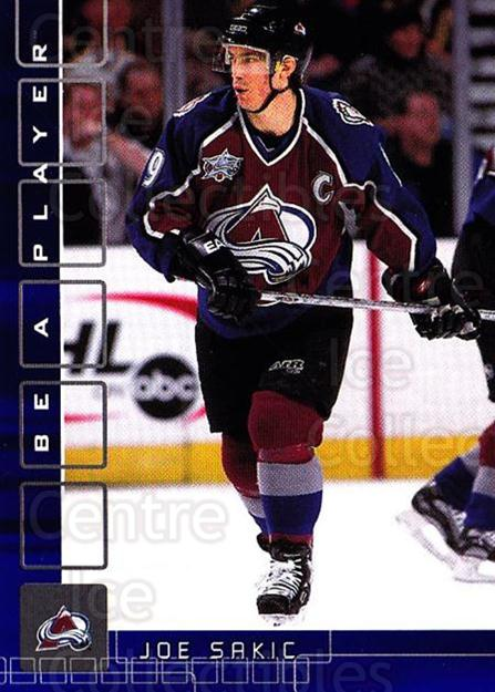 2001-02 BAP Memorabilia Sapphire #149 Joe Sakic<br/>1 In Stock - $10.00 each - <a href=https://centericecollectibles.foxycart.com/cart?name=2001-02%20BAP%20Memorabilia%20Sapphire%20%23149%20Joe%20Sakic...&quantity_max=1&price=$10.00&code=363822 class=foxycart> Buy it now! </a>