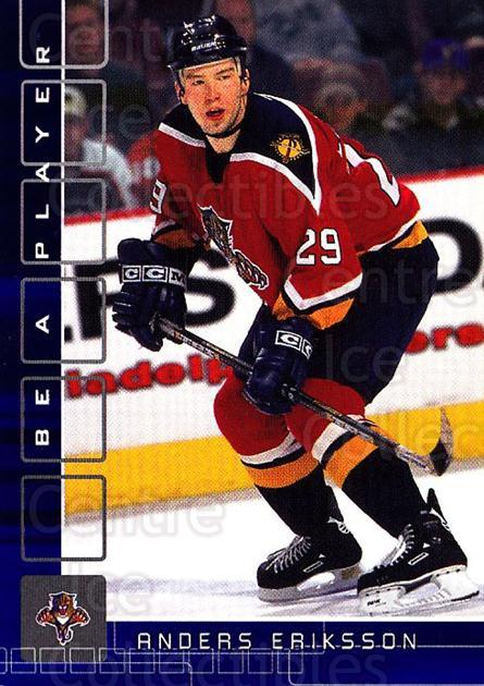2001-02 BAP Memorabilia Sapphire #154 Anders Eriksson<br/>1 In Stock - $5.00 each - <a href=https://centericecollectibles.foxycart.com/cart?name=2001-02%20BAP%20Memorabilia%20Sapphire%20%23154%20Anders%20Eriksson...&quantity_max=1&price=$5.00&code=363828 class=foxycart> Buy it now! </a>