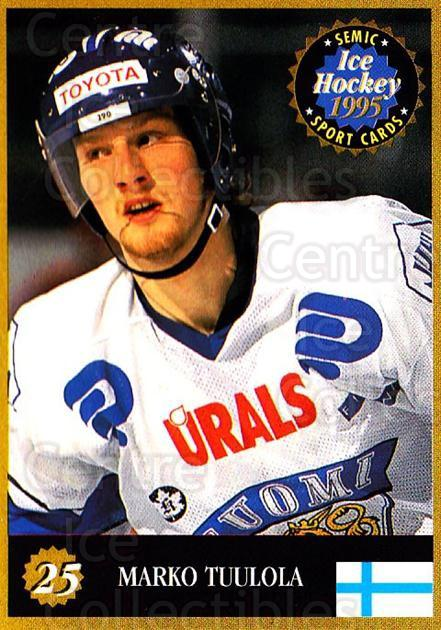 1995 Finnish Semic World Championships #25 Marko Tuulola<br/>6 In Stock - $2.00 each - <a href=https://centericecollectibles.foxycart.com/cart?name=1995%20Finnish%20Semic%20World%20Championships%20%2325%20Marko%20Tuulola...&quantity_max=6&price=$2.00&code=36382 class=foxycart> Buy it now! </a>