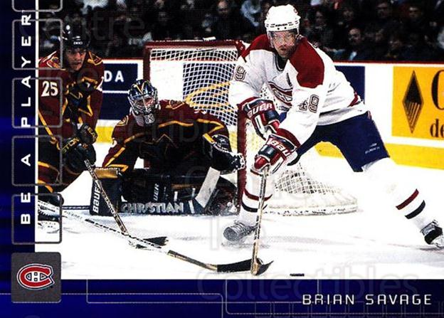2001-02 BAP Memorabilia Sapphire #157 Brian Savage<br/>1 In Stock - $5.00 each - <a href=https://centericecollectibles.foxycart.com/cart?name=2001-02%20BAP%20Memorabilia%20Sapphire%20%23157%20Brian%20Savage...&quantity_max=1&price=$5.00&code=363830 class=foxycart> Buy it now! </a>