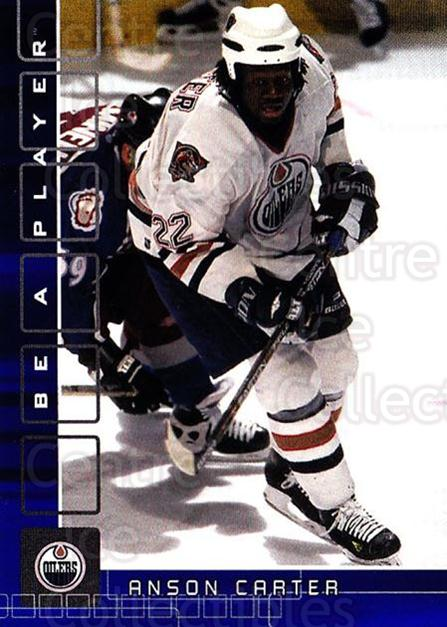 2001-02 BAP Memorabilia Sapphire #16 Anson Carter<br/>3 In Stock - $5.00 each - <a href=https://centericecollectibles.foxycart.com/cart?name=2001-02%20BAP%20Memorabilia%20Sapphire%20%2316%20Anson%20Carter...&quantity_max=3&price=$5.00&code=363833 class=foxycart> Buy it now! </a>