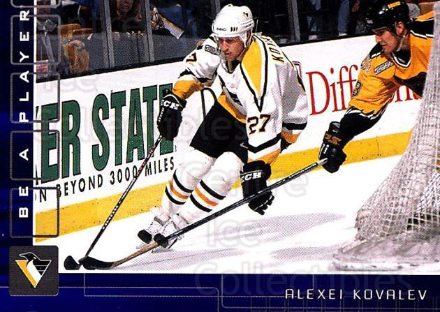 2001-02 BAP Memorabilia Sapphire #168 Alexei Kovalev<br/>1 In Stock - $5.00 each - <a href=https://centericecollectibles.foxycart.com/cart?name=2001-02%20BAP%20Memorabilia%20Sapphire%20%23168%20Alexei%20Kovalev...&quantity_max=1&price=$5.00&code=363842 class=foxycart> Buy it now! </a>