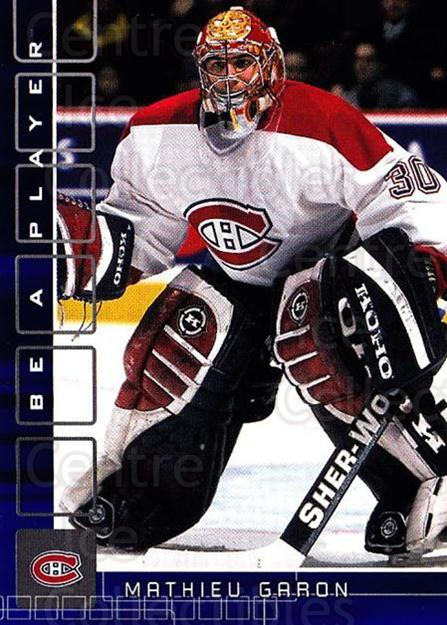 2001-02 BAP Memorabilia Sapphire #181 Mathieu Garon<br/>1 In Stock - $5.00 each - <a href=https://centericecollectibles.foxycart.com/cart?name=2001-02%20BAP%20Memorabilia%20Sapphire%20%23181%20Mathieu%20Garon...&quantity_max=1&price=$5.00&code=363857 class=foxycart> Buy it now! </a>
