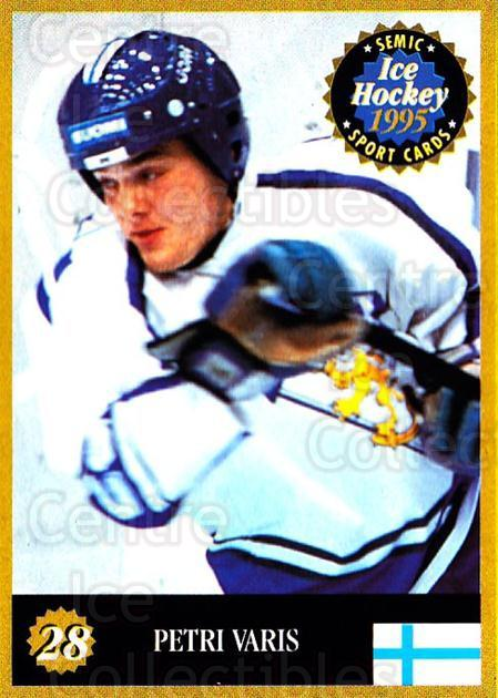 1995 Finnish Semic World Championships #28 Petri Varis<br/>10 In Stock - $2.00 each - <a href=https://centericecollectibles.foxycart.com/cart?name=1995%20Finnish%20Semic%20World%20Championships%20%2328%20Petri%20Varis...&quantity_max=10&price=$2.00&code=36385 class=foxycart> Buy it now! </a>