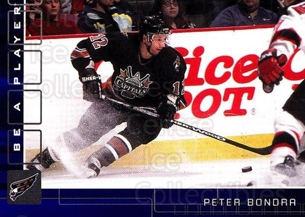 2001-02 BAP Memorabilia Sapphire #195 Peter Bondra<br/>1 In Stock - $5.00 each - <a href=https://centericecollectibles.foxycart.com/cart?name=2001-02%20BAP%20Memorabilia%20Sapphire%20%23195%20Peter%20Bondra...&quantity_max=1&price=$5.00&code=363872 class=foxycart> Buy it now! </a>