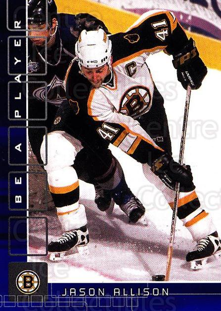 2001-02 BAP Memorabilia Sapphire #197 Jason Allison<br/>2 In Stock - $5.00 each - <a href=https://centericecollectibles.foxycart.com/cart?name=2001-02%20BAP%20Memorabilia%20Sapphire%20%23197%20Jason%20Allison...&quantity_max=2&price=$5.00&code=363874 class=foxycart> Buy it now! </a>