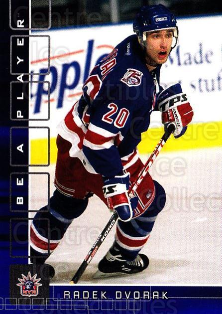 2001-02 BAP Memorabilia Sapphire #2 Radek Dvorak<br/>2 In Stock - $5.00 each - <a href=https://centericecollectibles.foxycart.com/cart?name=2001-02%20BAP%20Memorabilia%20Sapphire%20%232%20Radek%20Dvorak...&quantity_max=2&price=$5.00&code=363877 class=foxycart> Buy it now! </a>