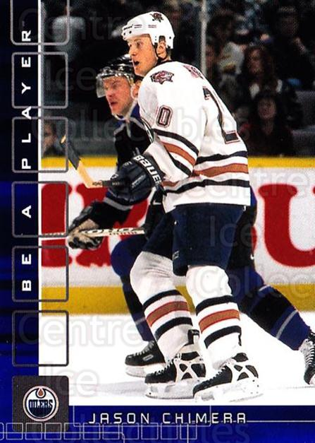 2001-02 BAP Memorabilia Sapphire #218 Jason Chimera<br/>1 In Stock - $5.00 each - <a href=https://centericecollectibles.foxycart.com/cart?name=2001-02%20BAP%20Memorabilia%20Sapphire%20%23218%20Jason%20Chimera...&quantity_max=1&price=$5.00&code=363897 class=foxycart> Buy it now! </a>
