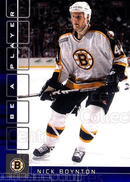 2001-02 BAP Memorabilia Sapphire #223 Nick Boynton<br/>1 In Stock - $5.00 each - <a href=https://centericecollectibles.foxycart.com/cart?name=2001-02%20BAP%20Memorabilia%20Sapphire%20%23223%20Nick%20Boynton...&quantity_max=1&price=$5.00&code=363903 class=foxycart> Buy it now! </a>