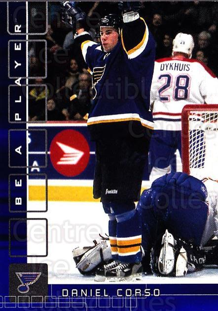 2001-02 BAP Memorabilia Sapphire #23 Daniel Corso<br/>1 In Stock - $5.00 each - <a href=https://centericecollectibles.foxycart.com/cart?name=2001-02%20BAP%20Memorabilia%20Sapphire%20%2323%20Daniel%20Corso...&quantity_max=1&price=$5.00&code=363910 class=foxycart> Buy it now! </a>