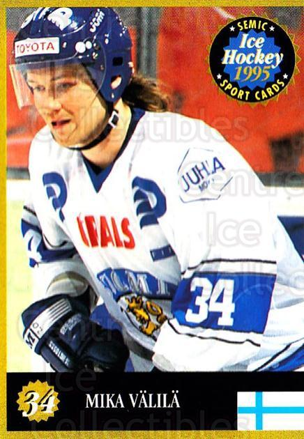 1995 Finnish Semic World Championships #34 Mika Valila<br/>7 In Stock - $2.00 each - <a href=https://centericecollectibles.foxycart.com/cart?name=1995%20Finnish%20Semic%20World%20Championships%20%2334%20Mika%20Valila...&quantity_max=7&price=$2.00&code=36392 class=foxycart> Buy it now! </a>