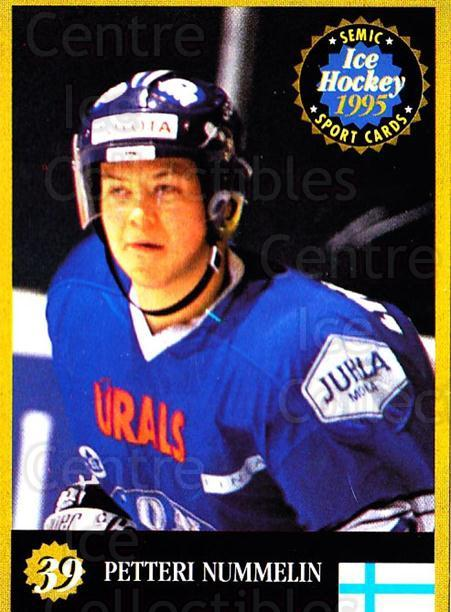 1995 Finnish Semic World Championships #39 Petteri Nummelin<br/>2 In Stock - $2.00 each - <a href=https://centericecollectibles.foxycart.com/cart?name=1995%20Finnish%20Semic%20World%20Championships%20%2339%20Petteri%20Nummeli...&quantity_max=2&price=$2.00&code=36397 class=foxycart> Buy it now! </a>
