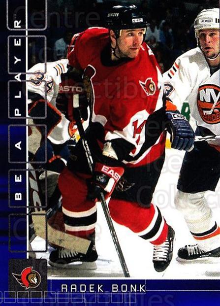 2001-02 BAP Memorabilia Sapphire #3 Radek Bonk<br/>1 In Stock - $5.00 each - <a href=https://centericecollectibles.foxycart.com/cart?name=2001-02%20BAP%20Memorabilia%20Sapphire%20%233%20Radek%20Bonk...&quantity_max=1&price=$5.00&code=363982 class=foxycart> Buy it now! </a>