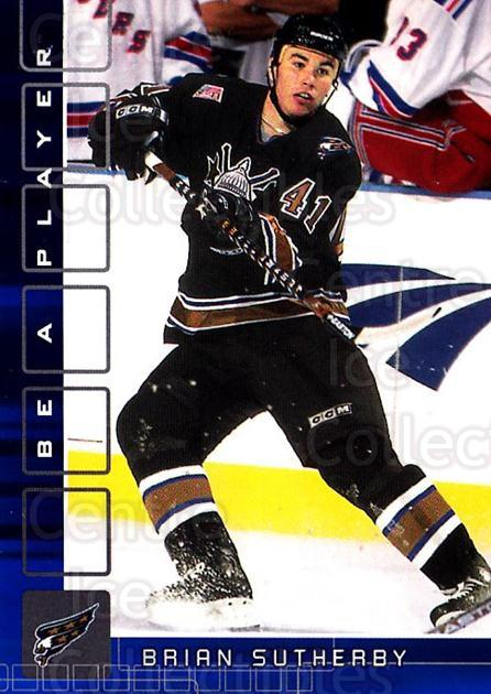 2001-02 BAP Memorabilia Sapphire #307 Brian Sutherby<br/>1 In Stock - $5.00 each - <a href=https://centericecollectibles.foxycart.com/cart?name=2001-02%20BAP%20Memorabilia%20Sapphire%20%23307%20Brian%20Sutherby...&quantity_max=1&price=$5.00&code=363988 class=foxycart> Buy it now! </a>