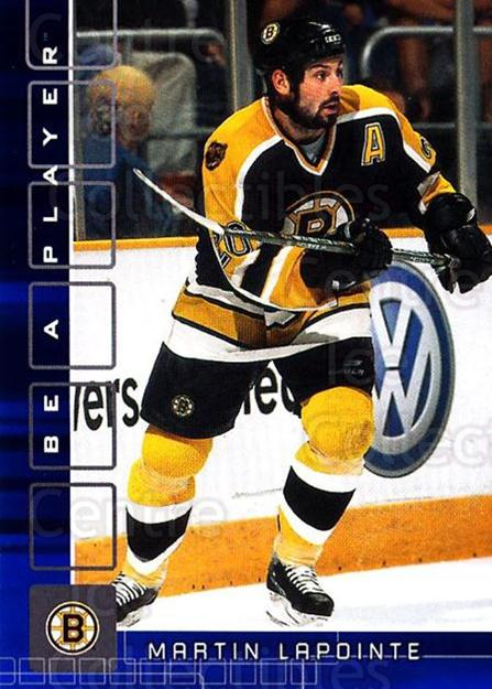 2001-02 BAP Memorabilia Sapphire #319 Martin Lapointe<br/>3 In Stock - $5.00 each - <a href=https://centericecollectibles.foxycart.com/cart?name=2001-02%20BAP%20Memorabilia%20Sapphire%20%23319%20Martin%20Lapointe...&quantity_max=3&price=$5.00&code=364000 class=foxycart> Buy it now! </a>