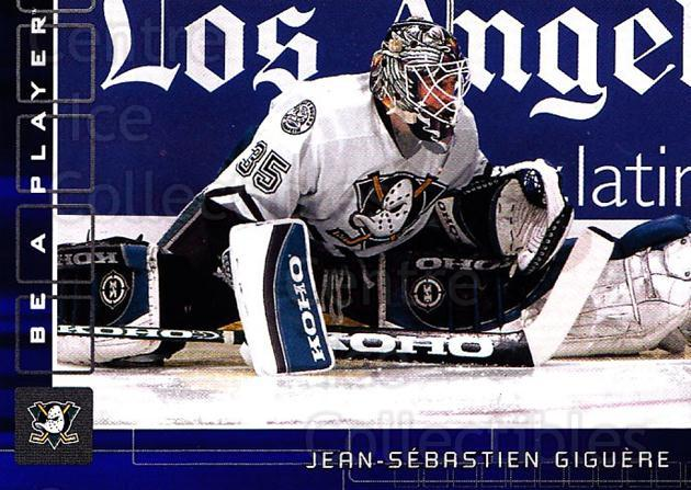 2001-02 BAP Memorabilia Sapphire #32 Jean-Sebastien Giguere<br/>1 In Stock - $5.00 each - <a href=https://centericecollectibles.foxycart.com/cart?name=2001-02%20BAP%20Memorabilia%20Sapphire%20%2332%20Jean-Sebastien%20...&quantity_max=1&price=$5.00&code=364001 class=foxycart> Buy it now! </a>
