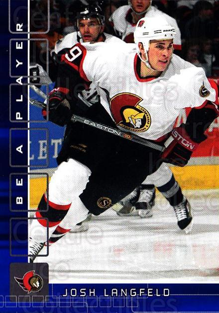2001-02 BAP Memorabilia Sapphire #430 Josh Langfeld<br/>1 In Stock - $5.00 each - <a href=https://centericecollectibles.foxycart.com/cart?name=2001-02%20BAP%20Memorabilia%20Sapphire%20%23430%20Josh%20Langfeld...&quantity_max=1&price=$5.00&code=364103 class=foxycart> Buy it now! </a>