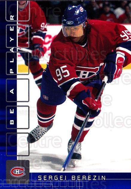 2001-02 BAP Memorabilia Sapphire #488 Sergei Berezin<br/>1 In Stock - $5.00 each - <a href=https://centericecollectibles.foxycart.com/cart?name=2001-02%20BAP%20Memorabilia%20Sapphire%20%23488%20Sergei%20Berezin...&quantity_max=1&price=$5.00&code=364161 class=foxycart> Buy it now! </a>